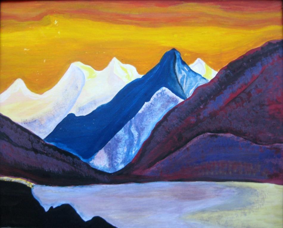 Белое озеро в Гималаях