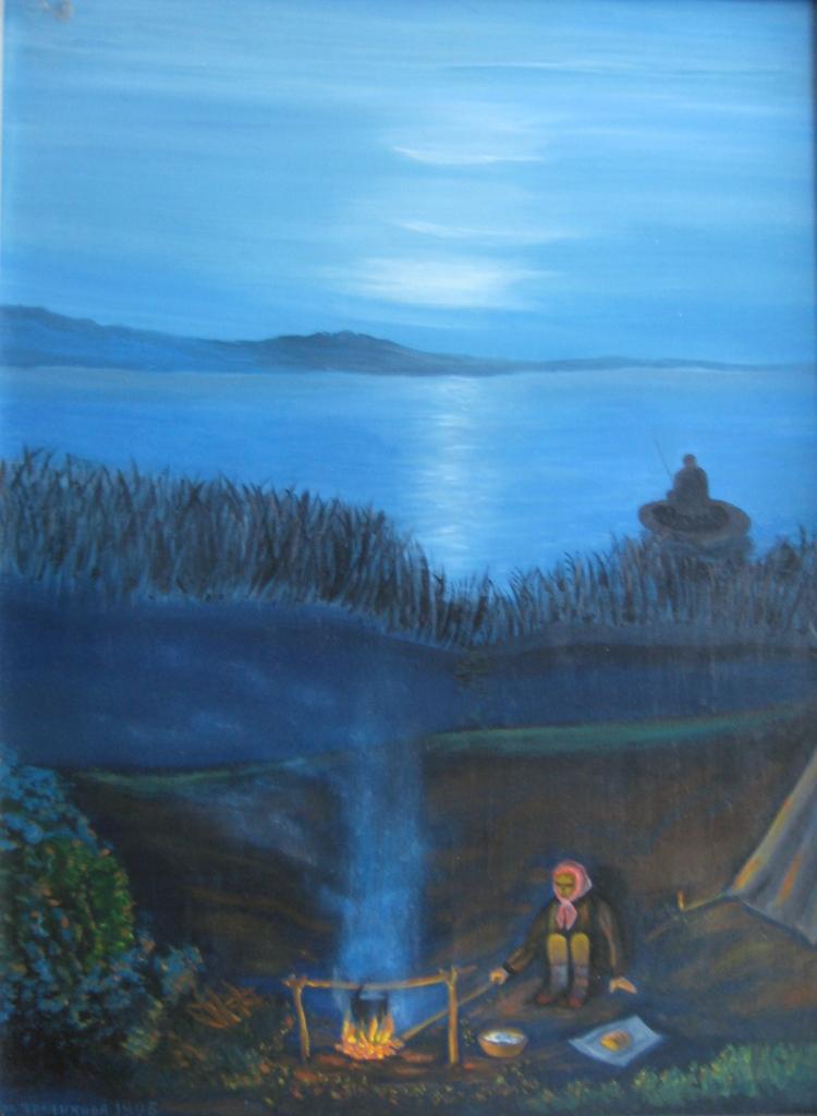 Два мира или Синий вечер на реке