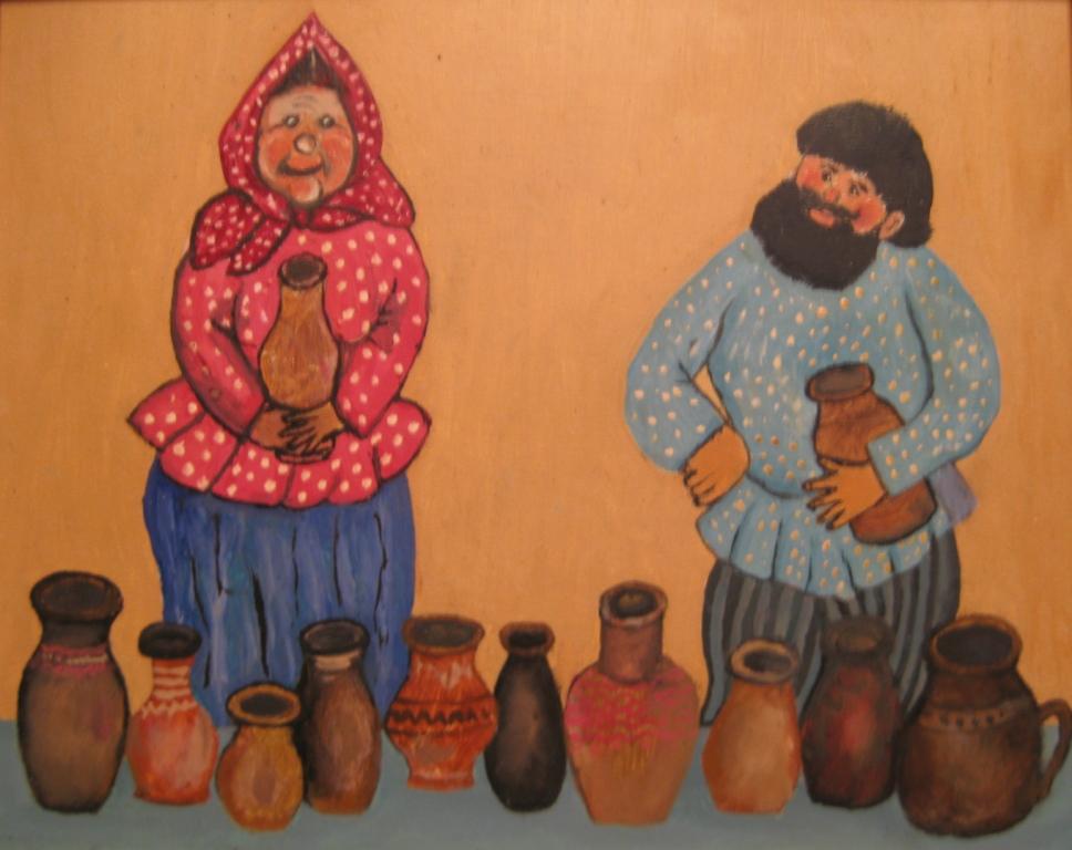 Дед и Баба на базаре