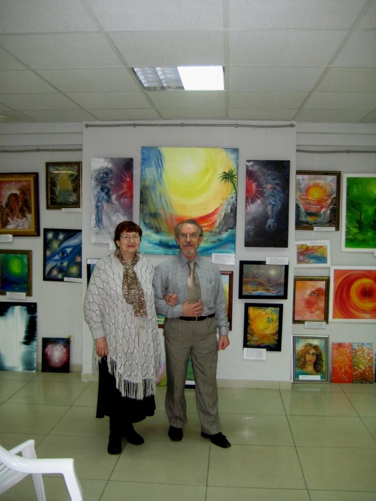 М. Тоненкова и В. Бочкарёв на 3-й выставке