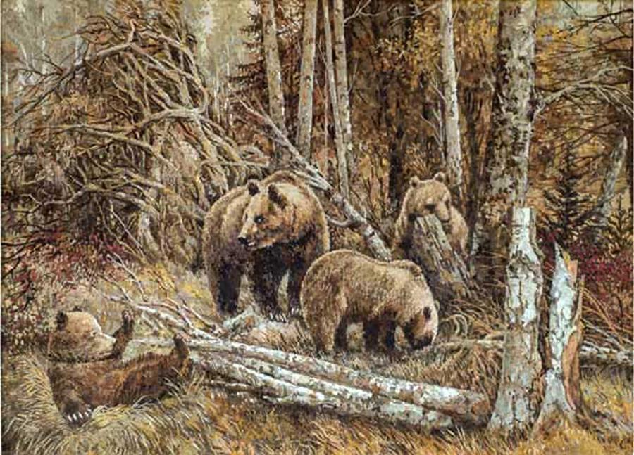 Бурые медведи. 2004 г.
