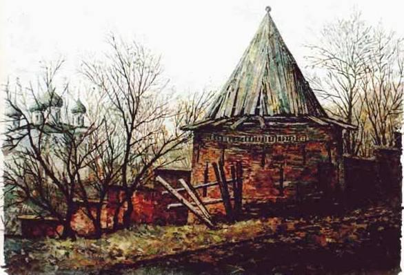 Крепостная стена с башней