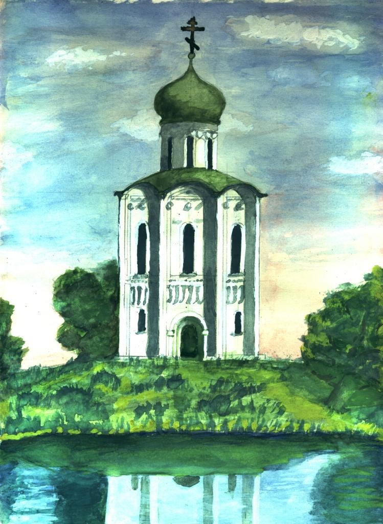 Л. К. Свитова.Церковь на Нерли
