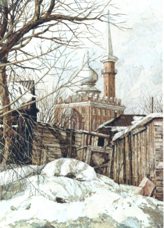 Около мечети. 2003 г.