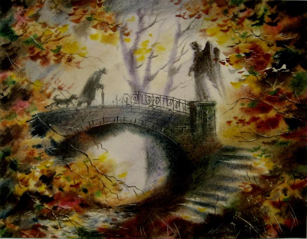 Осенний парк в меланхолии.