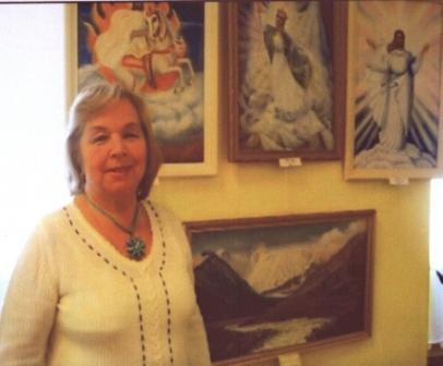 Л. К. Свитова на 1-й выставке художников