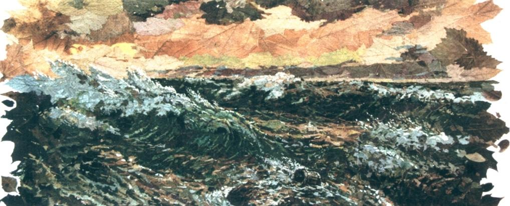 Зимний закат на море. 1989 г.