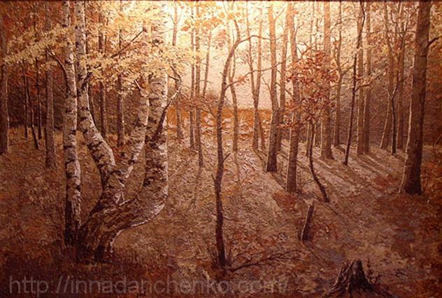 Анисимов. Неожиданный снег. 2001 г. Осень.