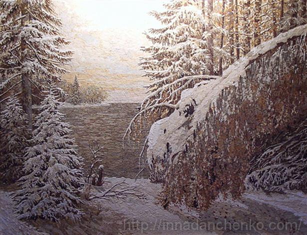 Анисимов. Неожиданный снег. 2001 г.