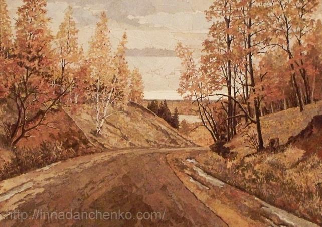 Анисимов. дорога к озеру.