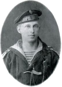 Б. Н. Абрамов - курсант военно-морского училища в Кронштадте.